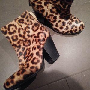Rag & Bone Pony leopard booties